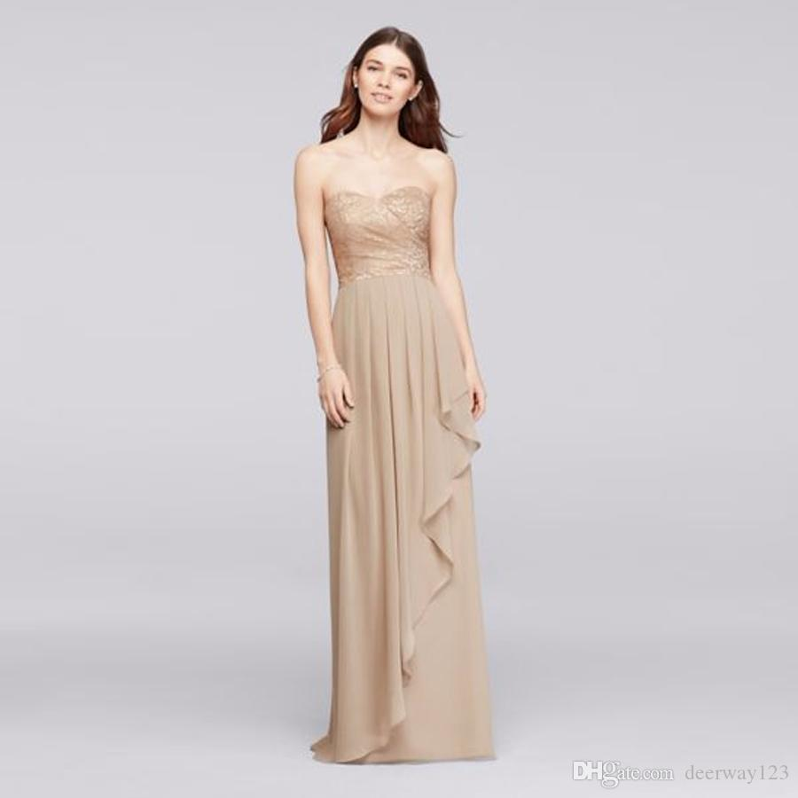 Long sweetheart bridesmaid dresses image collections braidsmaid long sweetheart metallic ruffled skirt champagne bridesmaid dress long sweetheart metallic ruffled skirt champagne bridesmaid dress ombrellifo Images
