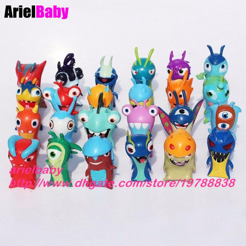 New 12PCS Slugterra Elemental Slugs Action Figure Toys Slug Terra Kids Birthday Gift Cake Toppers Mix Styles Collection