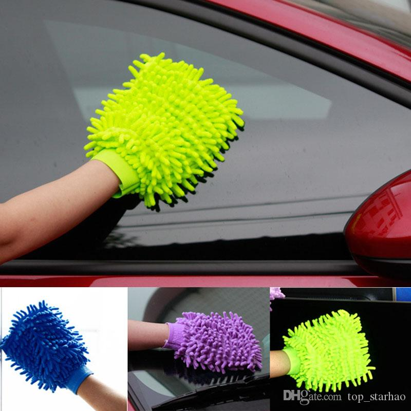 Car Hand Soft Cleaning Towel Microfiber Chenille Washing Gloves Coral Fleece Anthozoan Car Sponge Wash Cloth Car Care Cleaning XL-G109