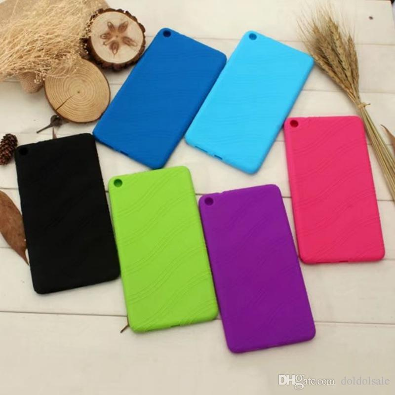 Silicone Rubber Soft TPU Back Cover Case for Lenovo Tab 3 7 Plus TB-7703 TB-7703X TAB3 7 Plus 7 inch Tablet + Stylus Pen