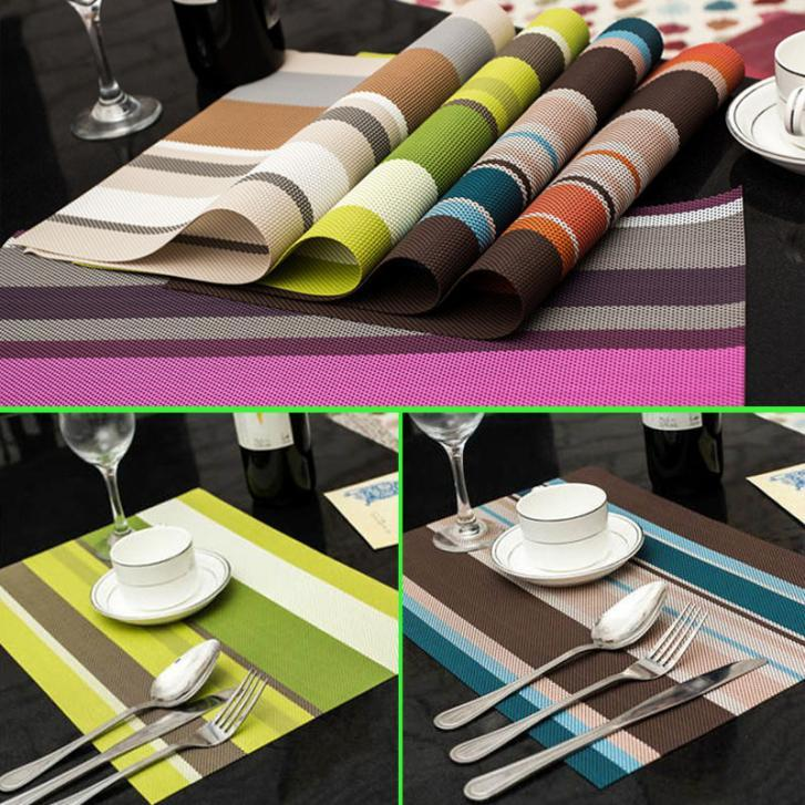 2018 Wholesale 3045cm Pvc Placemats Dining Tables