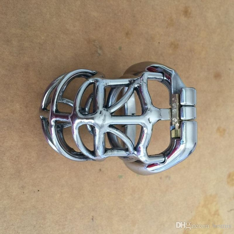 Open Mouth Snap Ring 65mm Length Male Cock Cage Stainless Steel Chastity Belt Men Chastity Device Penis Bondage Toy for BDSM