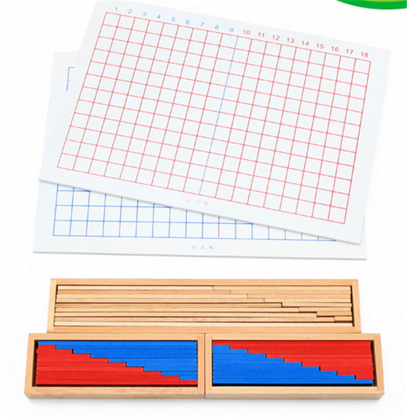 New Wooden Baby Toy Montessori Mathematics Teaching Aids Subtraction ...