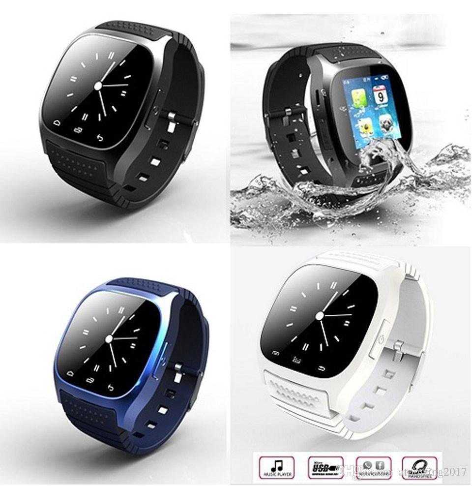 Hot Sale Waterproof Smart Watch M26 Woman Men Bluetooth Smartwatch Sync Phone Call Pedometer Anti-Lost For IOS Android Smartphone