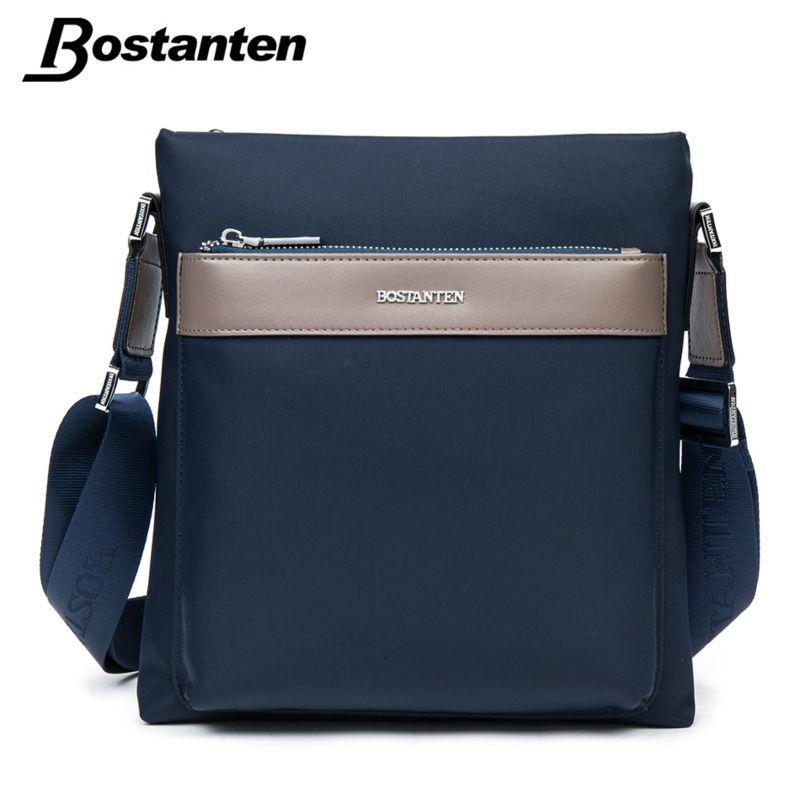 Acquista Commercio All ingrosso BOSTANTEN Piccolo Uomo Messenger Bag In  Nylon Impermeabile Maschile Borse A Tracolla Casual Design A Marchio Di  Alta Qualità ... 4b38e1c00b7