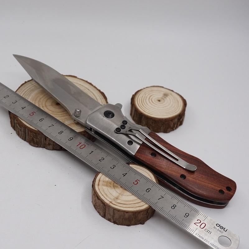 New Browning DA51 Folding Knife Tactical Survival Knife 440 Blade Wood Handle Pocket Hunting Knives Rescue Outdoor Camping EDC Multi Tools