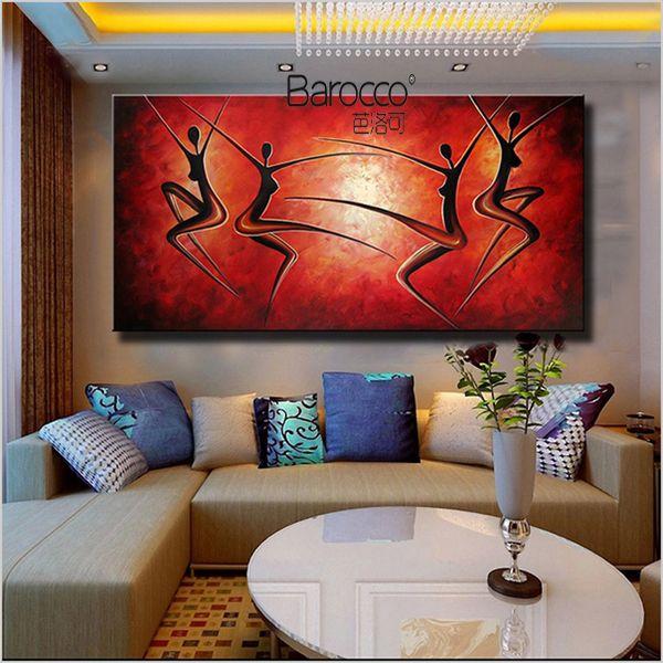 Reine Handgemalte Ölgemälde auf dicken Leinwand Moderne abstrakte einzigartige Figuren Ölgemälde Home Wandkunst Dekoration Wohnzimmer