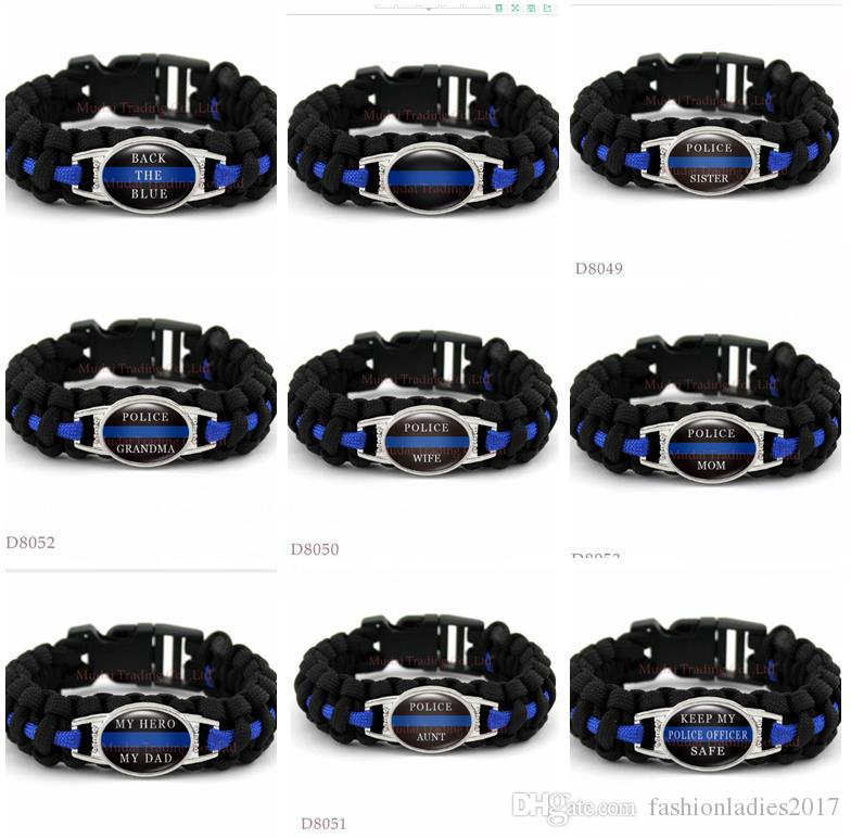 Back The Blue Lives Matter Thin Blue Line Paracord Survival Wife Mom
