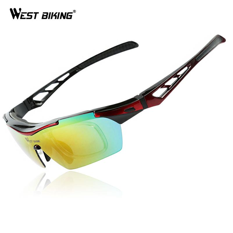 dc89a6087f2 Wholesale- WEST BIKING Cycling Glasses UV Proof Polarized 5 Lens ...