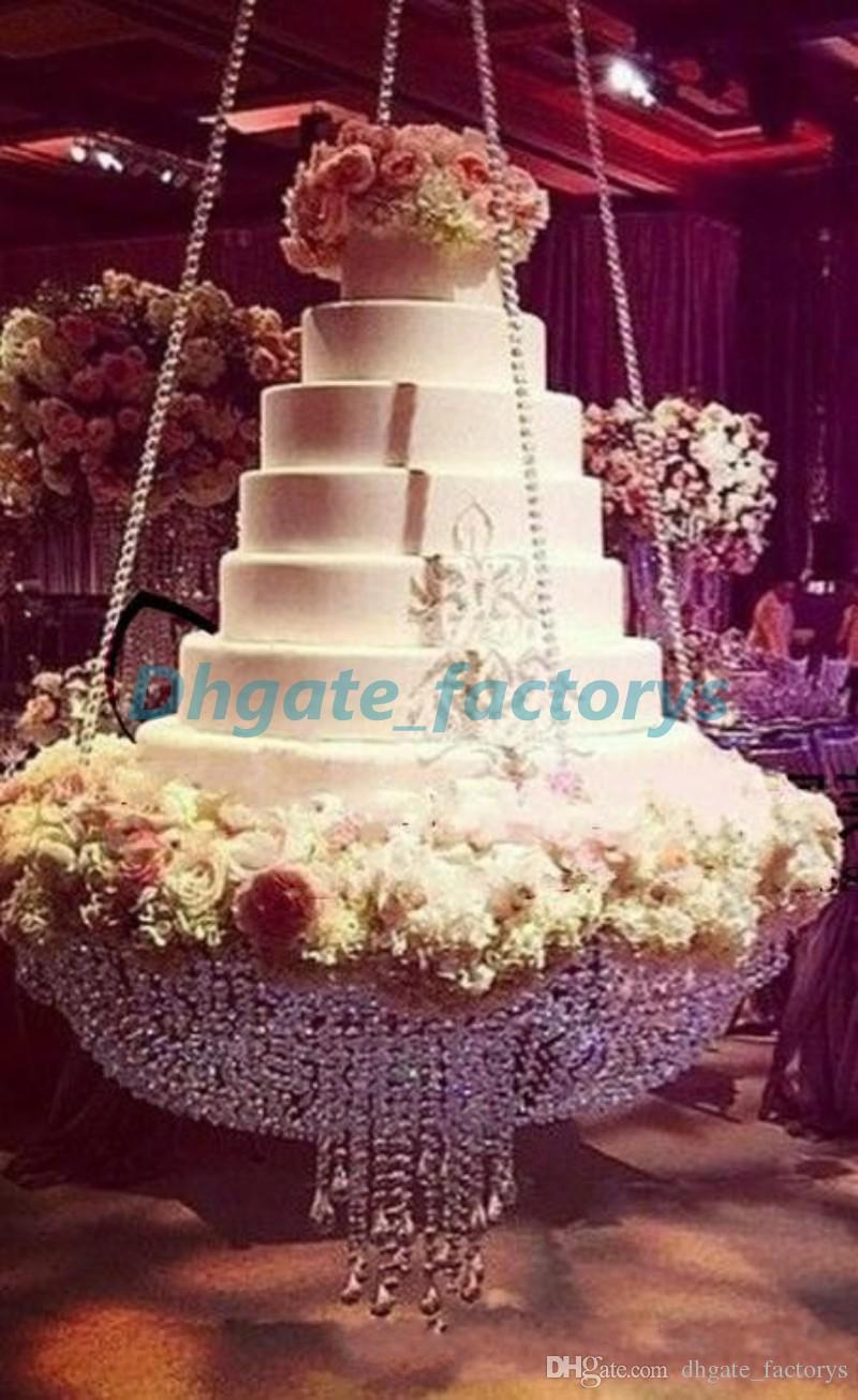 wedding cake stand with hanging crystals new hanging big cake rack wedding cake rack 25684