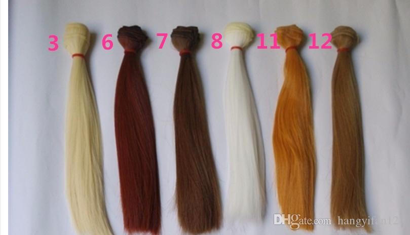 25cm100cm Doll Hair Accessories For Bjd Dolls Diy Refit Natrual