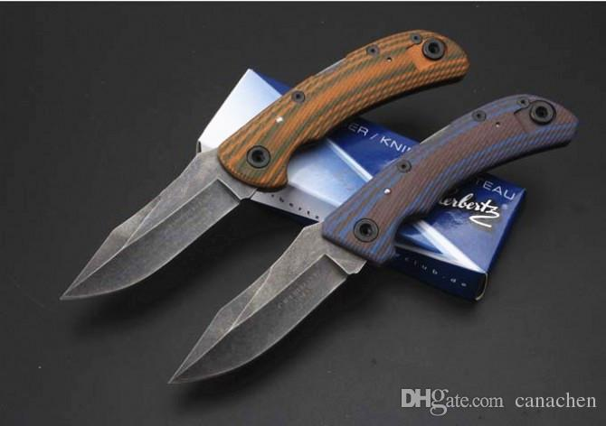 high quality fisherman folding knife G10 handle knife 7Cr13Mov blade Camping Survival Gift knives Outdoor Tools OEM