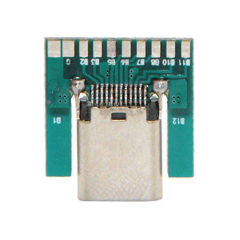 DIY 24pin USB 3.1 USB Tip C Kadın Soket Konnektör PC Kurulu ile SMT tipi