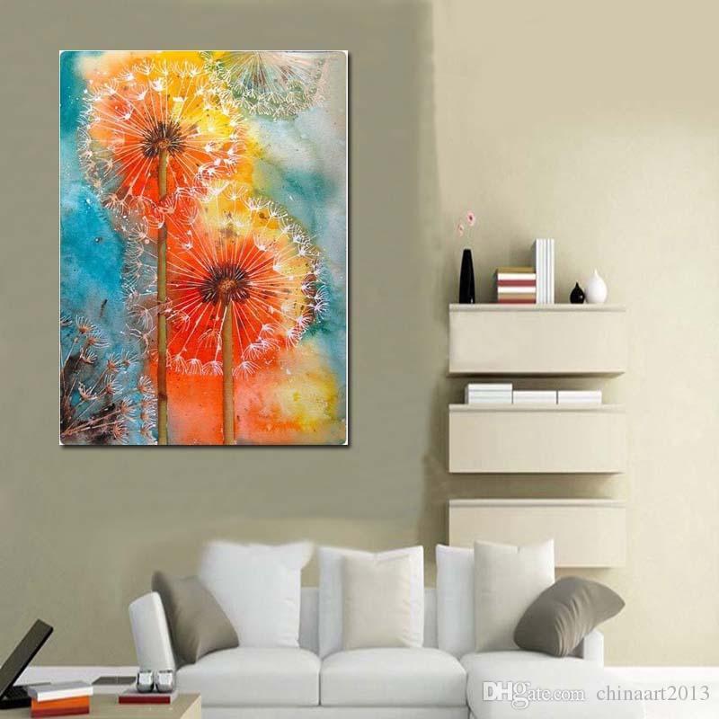 100% dipinto a mano pittura a olio su tela paesaggio bellissimo fiore immagine wall art spedizione gratuita
