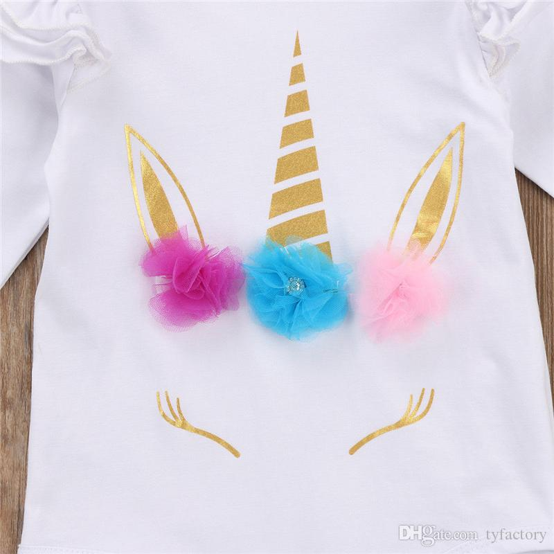 Long sleeve unicorn romper newborn Infant Baby Boy Girls Fashion Jumpsuit children Clothes cotton onesies kid clothing Christams Toddler