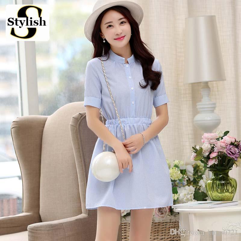 Shirt Dress Women Summer Dress 2017 Fashion Korean Female Short ...