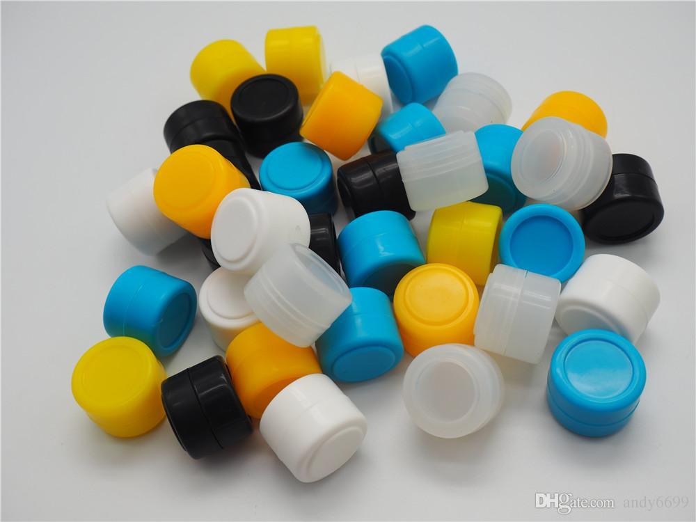도매 비 스틱 실리콘 실리콘 왁스 오일 컨테이너 2ml 22 * 15mm 컨테이너 항아리 왁스 농축기 DABS 항아리 용 컨테이너