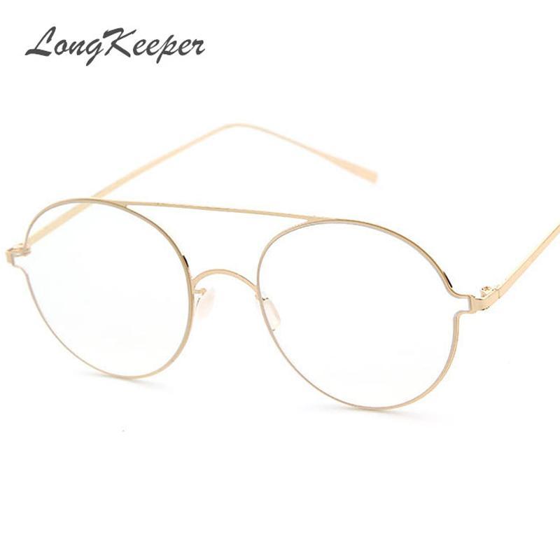 8648b8a29d9 Wholesale Super Light Retro Clear Eyeglasses Brand Designer Round Frame For  Women Fashion Men Glasses Optical Frames Eyeglasses UK 2019 From Ekkk