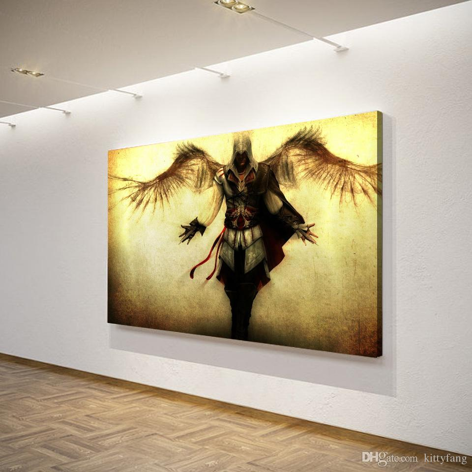Canvas Art Canvas Painting Assassin Creed Wings HD Printed Wall Art ...