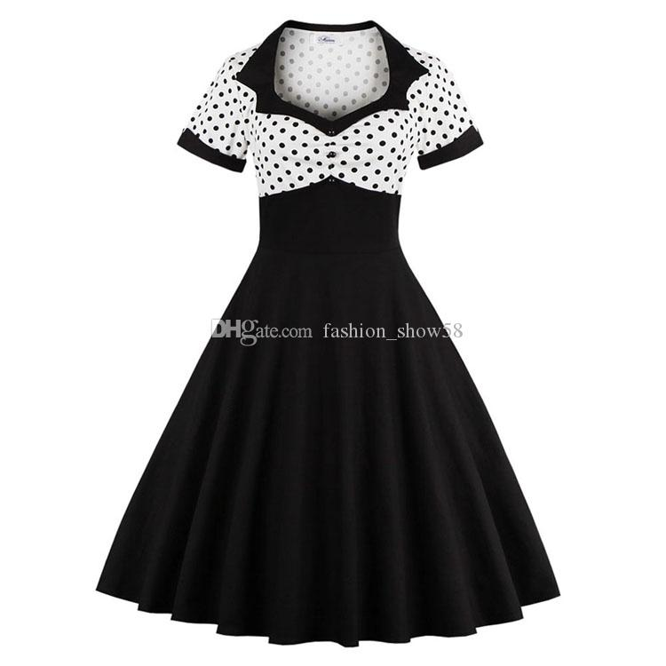 Women Plus Size Party Prom Dresses 2017 50 S Hepburn Style Black