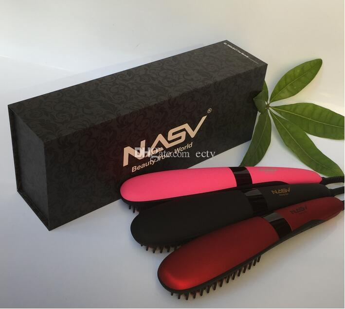 100% Original 2017 Beautiful Star NASV300 styling hair straighteners US UK AU EU Plug hair comb Oxygen ion PK HQT-906