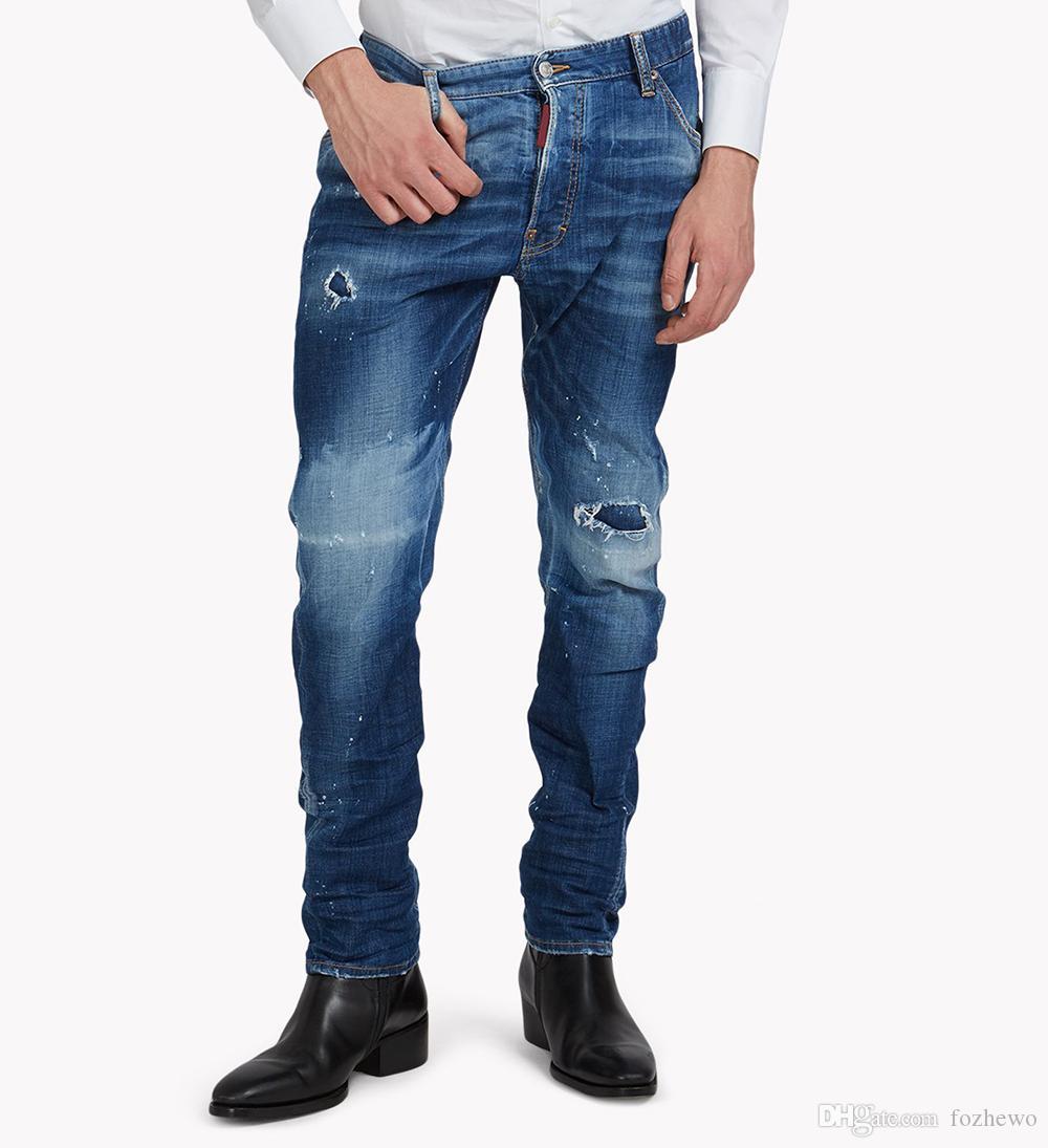 21e3494a1a Compre Pantalones Vaqueros Bordados De La Hoja De Arce Hombres Jeans  Cómodos Ocasionales Ajustados Blue Jeans Pantalones Vaqueros Del  Estiramiento ...