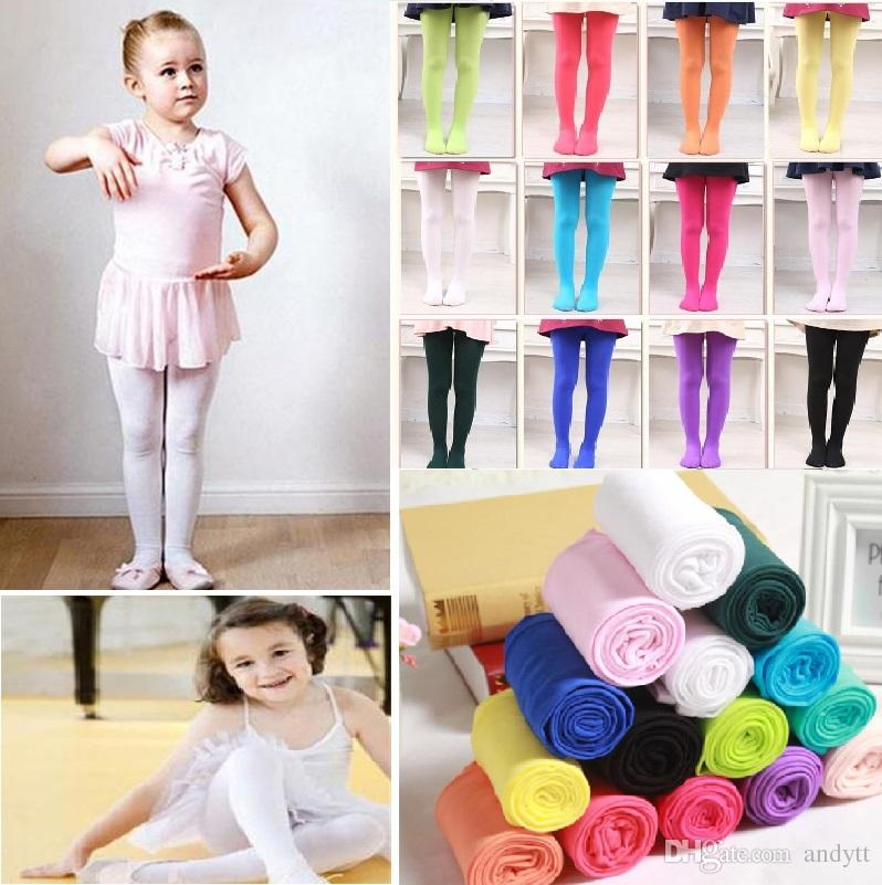 6b31873f47537 2019 New Girls Velvet Leggings Pantyhose Dance Stockings Children Ballet  Tights Baby Velvet Candy Color Leggings Children Stocking 2336 From Andytt,  ...