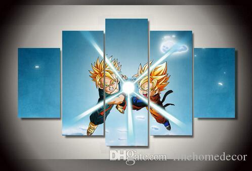 Emoldurado Impresso Witcher 3 Caça Selvagem Ciri 5 Peça Pintura de Arte Da Parede das Crianças Room Decor Poster Canvas Frete Grátis