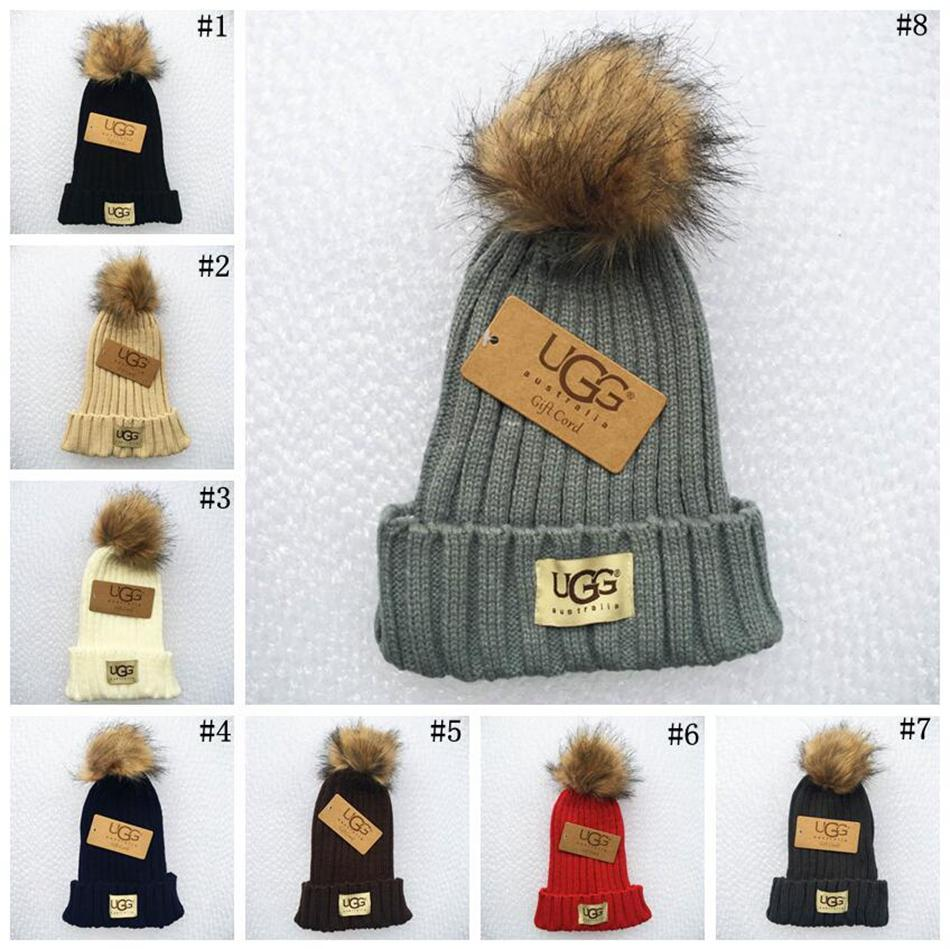 Women Winter Pom Pom Ball Knit Beanie Ski Cap Bobble Hat Fur Knitted Hats  LJJO3318 Hats And Caps Beany From Kids dress d19e4576449
