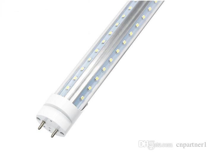 T8 LED Tube Light g13 2 pin 8ft 6FT 5FT 4FT 1.2M-2.4m LED V Shape Double Glow Light For cooler door AC85-2 led lighting fluorescent lamp