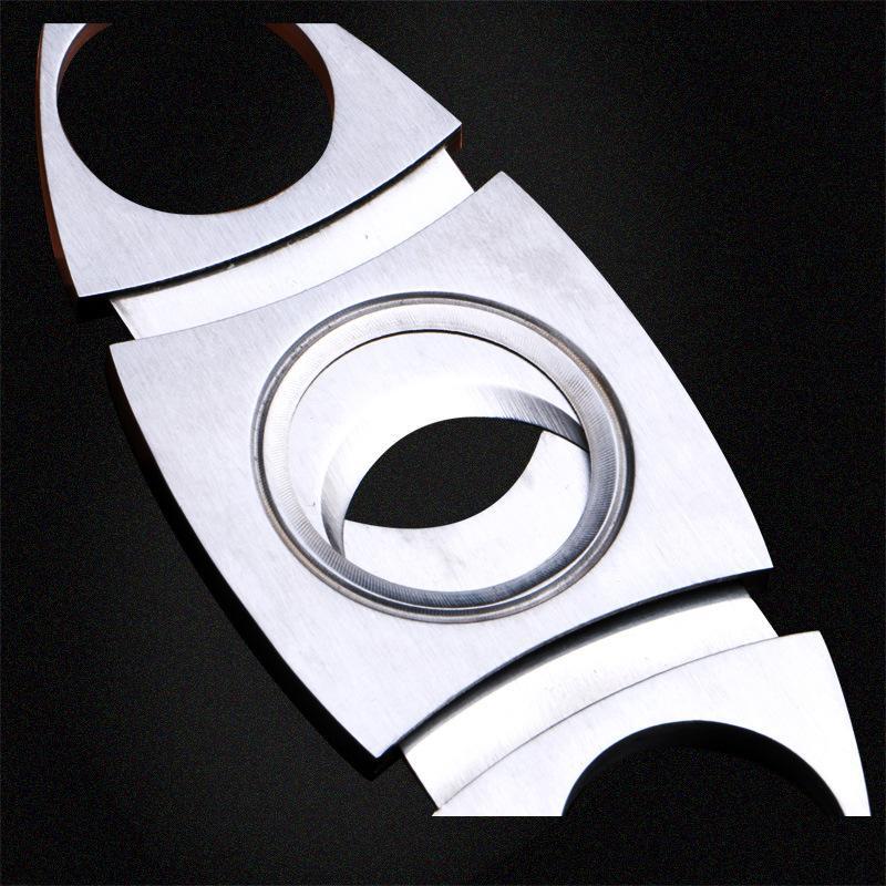 Lujo Cohiba Cigar Knives Cuchillas de doble cuchilla Cortador de cigarros Cuchillo de acero inoxidable Tijeras Accesorios para fumar Herramientas de fumar Precio de fábrica