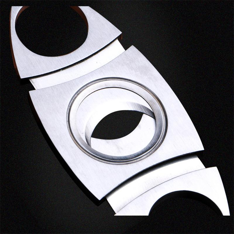 Luxury Cohiba Cigar Knives Double Blades Cigar Cutter Pocket Stainless Steel Knife Scissors Cigar Accessories Smoking Tools Factory Price