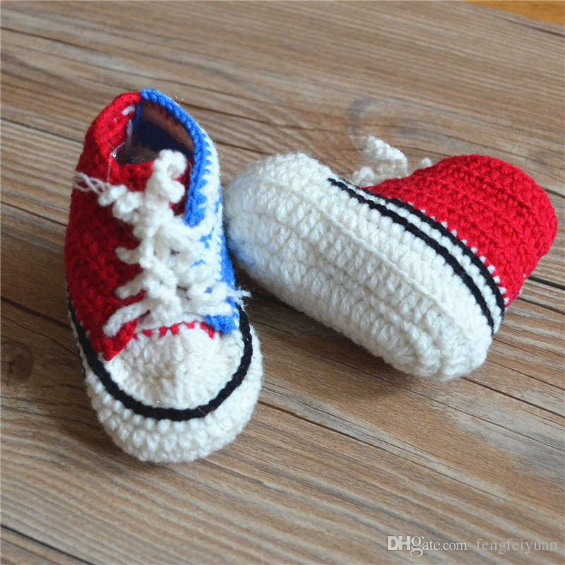 Hot sale baby crochet sneakers shoes shoe booties,Handmade crochet sneaker shoe sandals prewalker for infants/toddlers/kids/bab