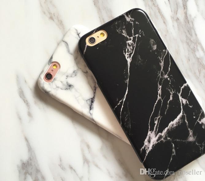Marble IMD Suave mate TPU Funda de protección completa para iPhone X 8 6 6S 7 Plus Cubierta de piel para teléfono celular