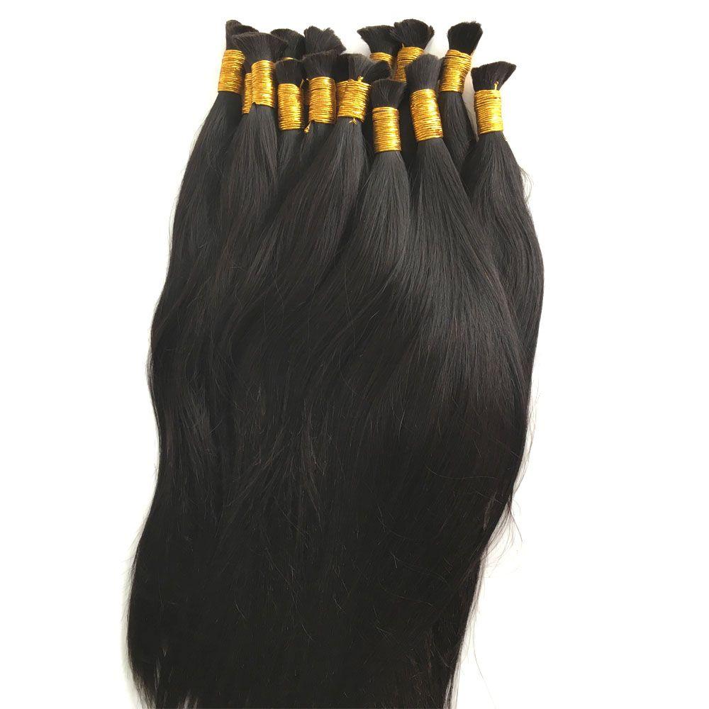8A Micro mini cabello trenzado brasileño a granel para trenzar un paquete Lote 100% humano recto brasileño cabello trenzado