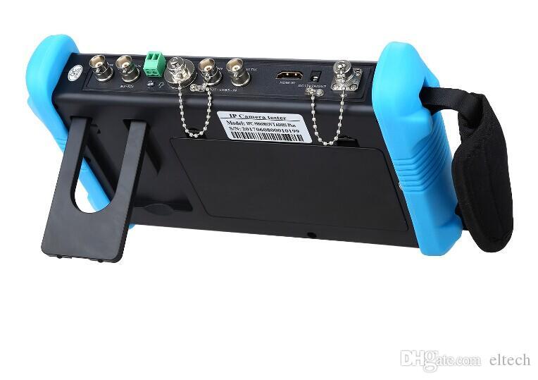 "7"" 4K CCTV IP Tester Monitor 8GB SDI TVI CVI AHD CVBS Camera Multimeter PTZ POE Test WIFI HDMI Video Onvif H.265"