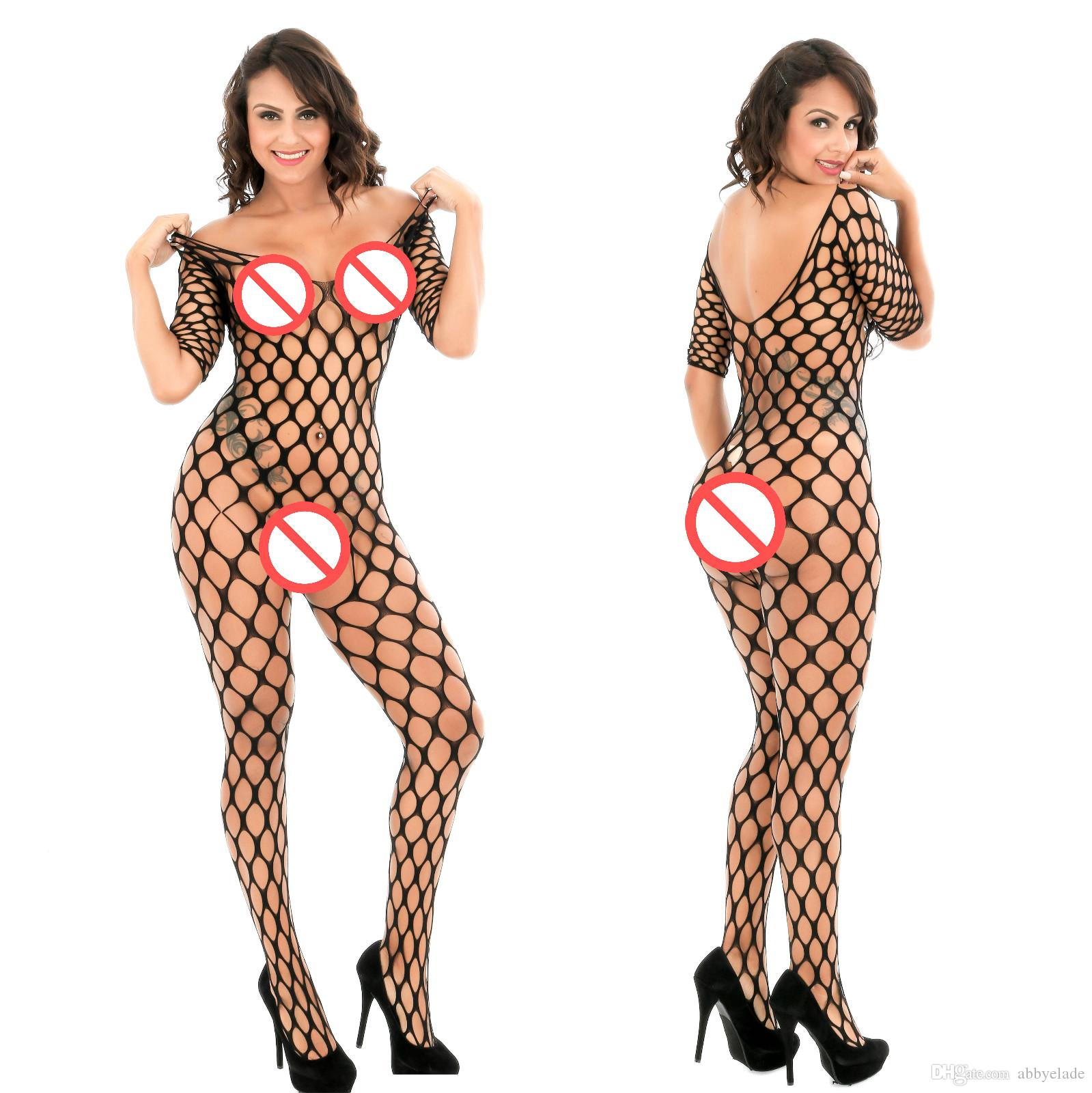 Costumes Femme érotique Sexy Femmes Sex Lingerie Body Stocking Ouvrir Crotch Lingère Sexy Sexy Fishnet Bodystocking Transparent femme