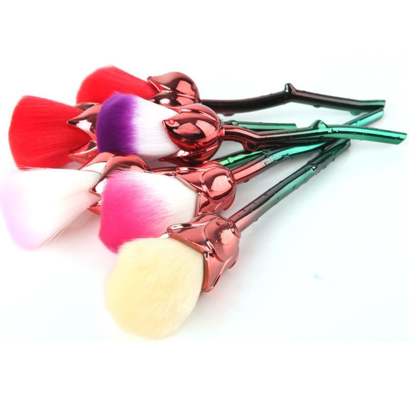 3D Rose Flower Makeup Brushes Set Foundation Blending Brush Tool Beauty Cosmetic Powder Blush Makeup Brush Tool Make up Brush Kits