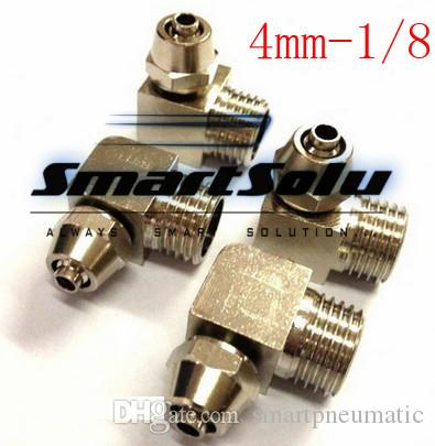 brass quick connectors for 4mm hose 1/8 thread elbow type pipe fitting