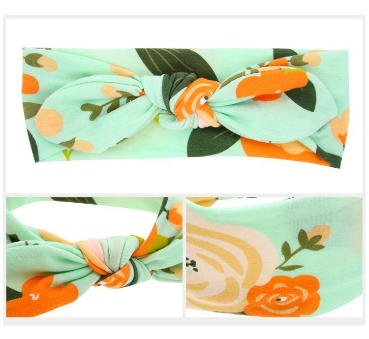 Дети Florals оголовье девочка младенец Банни Уши Узел Тюрбан Twist Headwrap Twisted Группа волос Дети ободки банданы Детского аксессуар для волос A35