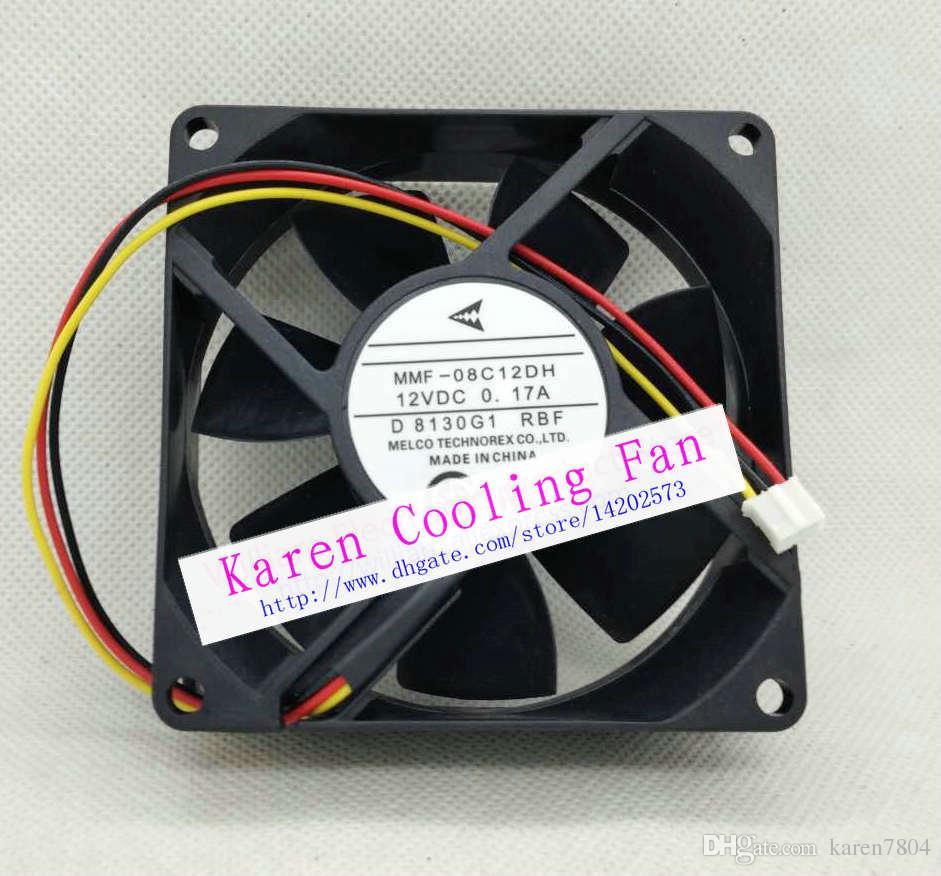 Mitsubishi MMF-08C12DH 12V 0.17A 8CM 80 * 80 * 25MM 인버터 냉각 팬용 오리지널