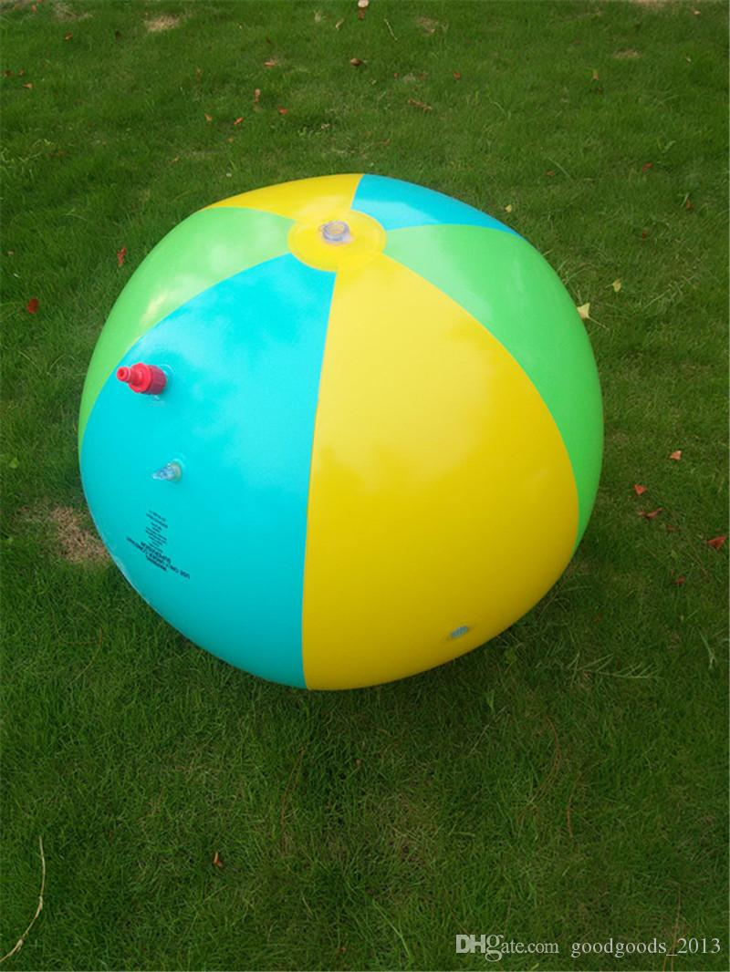 Inflatable Beach Water Ball Outdoor Inflated Toy For Baby Kids water Spray Balloon Outdoors Play In The Water Beach Ball b1189