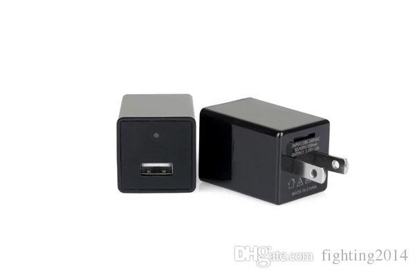 Adaptador AC WI-FI Mini câmera IP P2P 1080 P UE EUA plugue carregador DVR pinhone camera Home Security carregador câmera remota monitor Cam Preto