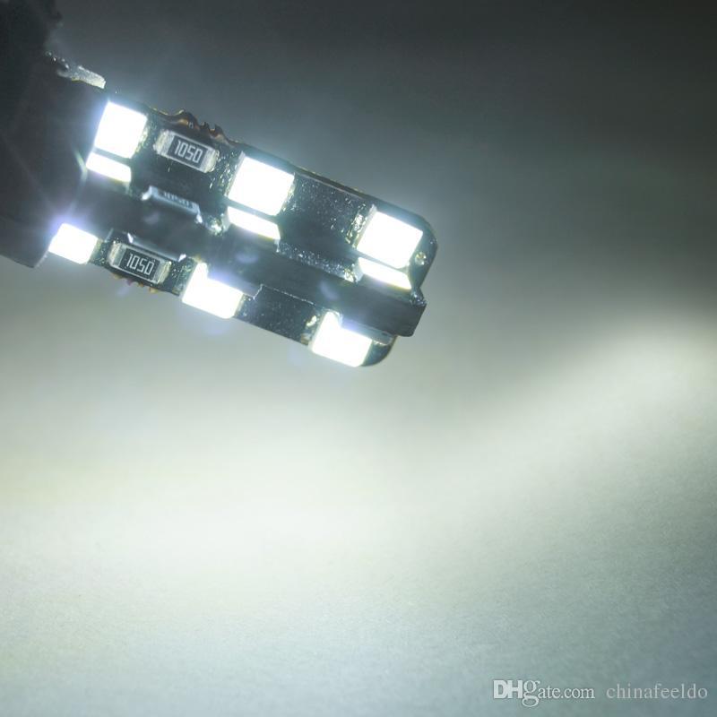 Оптовая DC12V Холодный Белый T10 24LED 2835SMD CANBUS Нет ошибок Автомобильный светодиод Лампа Боковой свет # 2787