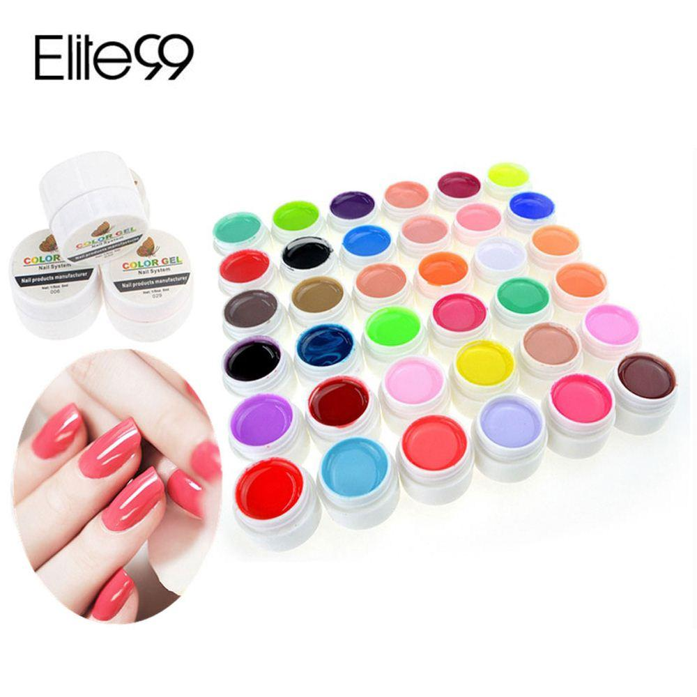 Pure Color Uv Nail Gel Polish Extension Professional Nail Gel Art ...