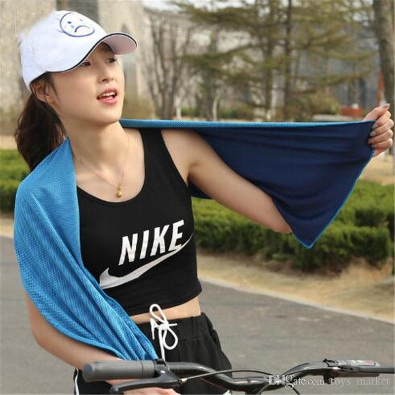 Toalha Fria de verão Dupla 100 * 31 cm Toalha De Arrefecimento De Gelo Esportes Para Adultos Quick Dry Toalha Respirável