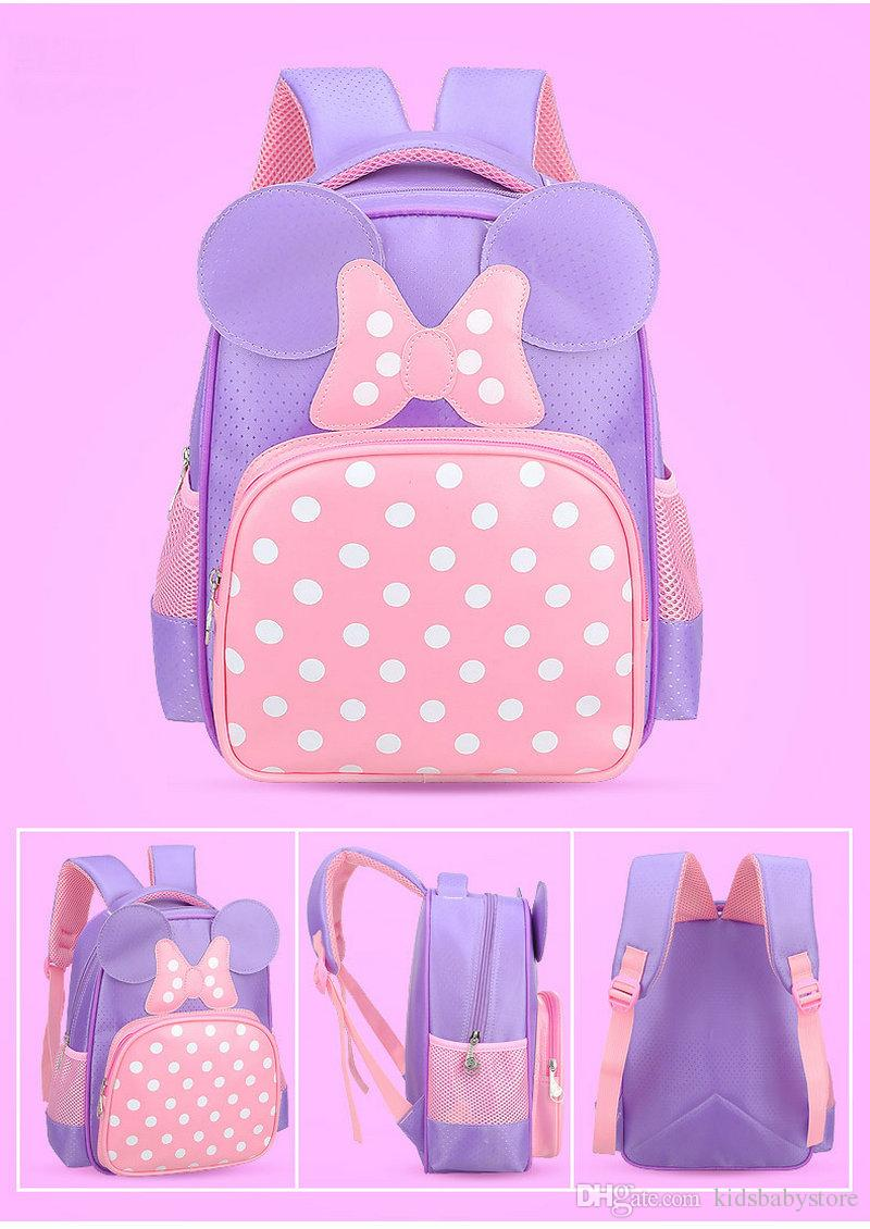 Fashion Butterfly Design Bambini Cartoon Schoolbag Baby Kindergarten Pink Rose Spalle Borsa da viaggio Borsa da viaggio Daypack ragazze Bambini