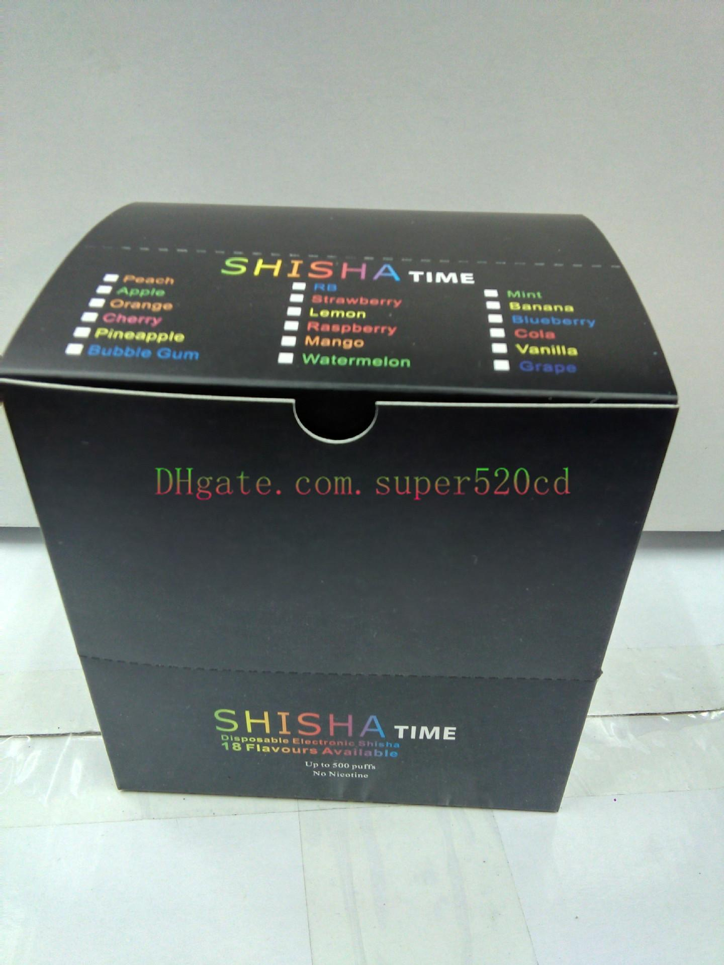 New E ShiSha Hookah Pipe Pen Disposable Electronic Cigarette Fruit Juice E Cig Stick Shisha Time 500 Puffs