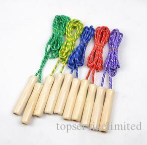 Exercise School Wooden Handle Skipping Ropes Outdoor Toy Children Kid Fitness Exercise Speed Jump Rope Outdoor Sport
