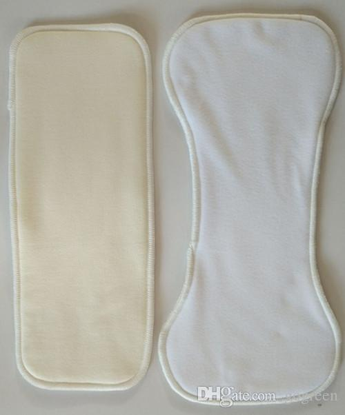 Plain Print Minky Cloth Diapers Reusable Nappy Covers With Bamboo Inserteach diaper has 2 insert
